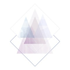 Ilustracja -pastelowe trójkąty na białym tle