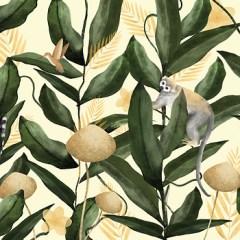 dzungla-lemur-na-jasnym-tle-natalia-lach-fototapeta-w-stylu-glamour