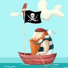 pirat-z-papuga-plakat-dla-dzieci