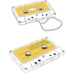 kaseta-magnetofonowa-plakat-vintage