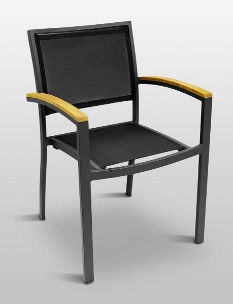 commercial seating chairs death by electric chair video outdoor batline weave side and arm for