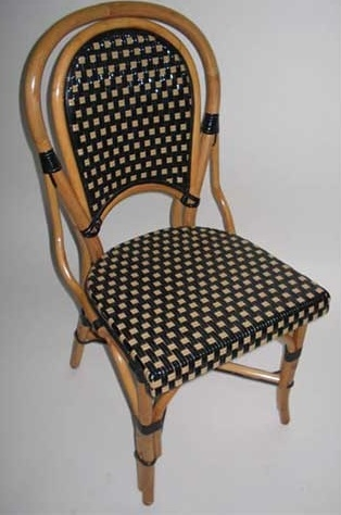 cafe rattan french bistro chairs chairitee wood
