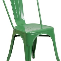 Green Metal Bistro Chairs Yellow Dining Room Chair Covers Industrial Greenblue