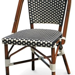 Bamboo Outdoor Chairs Navy Blue Wingback Black & White Rattan Bistro Aluminum
