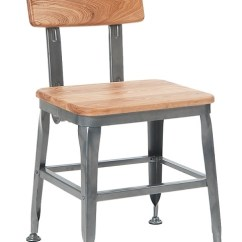Metal Restaurant Chairs Diy Wood Chair Makeover Industrial Seat