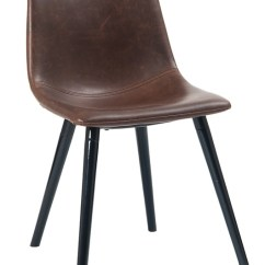 Industrial Bistro Chairs Kids Table Chair Brown Upholstered