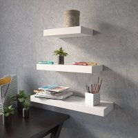 wall decor Wall Shelf Set Of 3 Floating Shelves Organizer ...