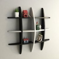 Decorative Floating Globe Wall Shelves - Black & White