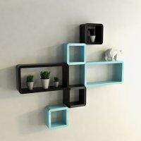 Black Decorative Wall Shelves | Decoration For Home