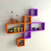 Buy Designer Cube Rectangle Wall Shelves Online at DecorNation