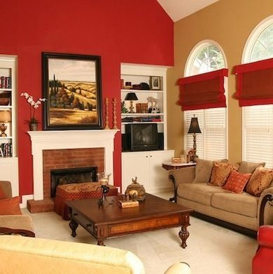 best colours for living room feng shui white leather chairs creative red designs