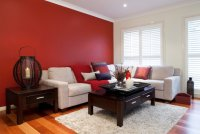 Creative Red Living Room Designs