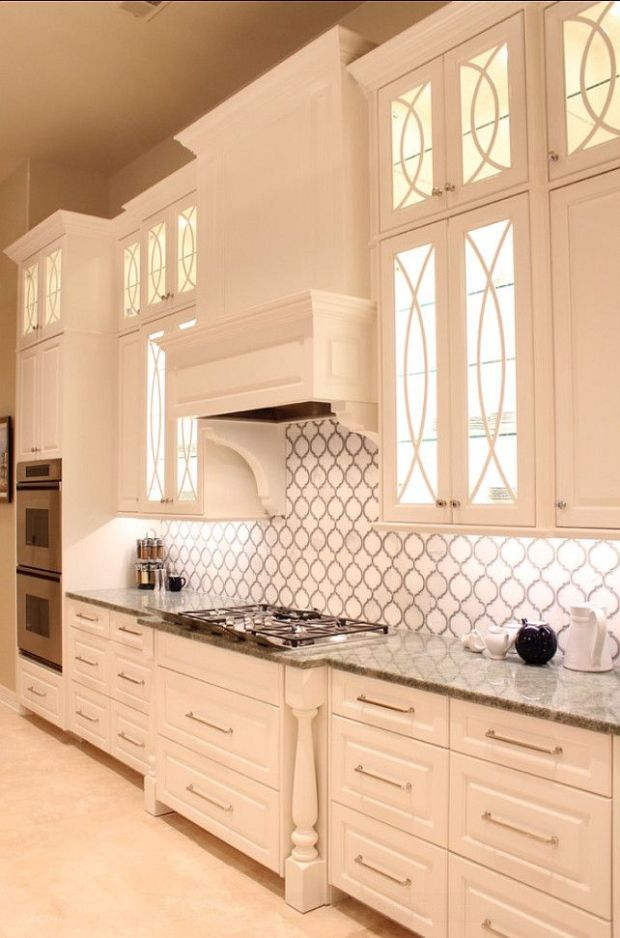 very modern and white colored kitchen