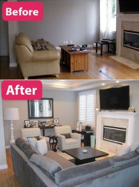 Add Room Above Living Room Before And After Pictures to ...