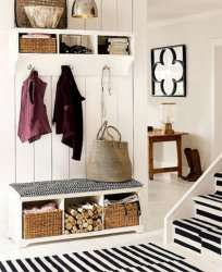 white stylish entryway
