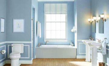 Blue and White Bathroom Decoration 8