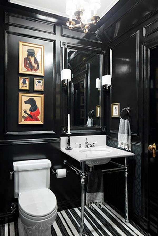 Contemporary Design Black And White Bathroom Decor Decorating Ideas