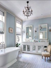 Decorating Bathroom With Blue And White