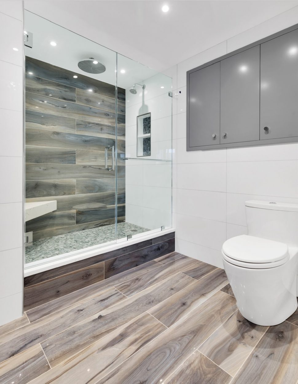 2018 wood tile shower ideas with pics