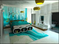 20+ Aqua Bedroom Ideas 2018 | Decor Or Design