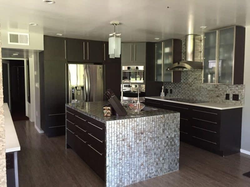 open metal shelving kitchen kohler coralais faucet backsplash ideas