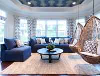 Living Room with Earth Tones