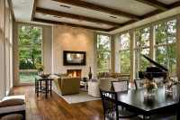 Open Living Room to Dining Room Design Ideas
