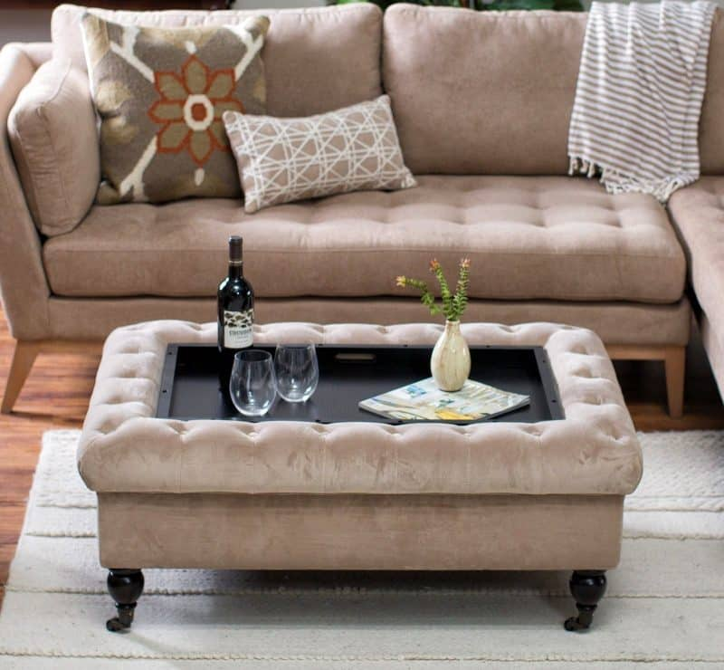 best ottoman coffee tables with trays