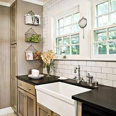 kitchens - Painted Cabinets Subway Tile backsplash Haskell Harris farmhouse sink  Haskell Harris kitchen  subway tiles, farmhouse sink, taupe