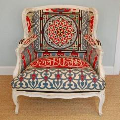 Bergere Dining Chairs Accent Chair Recliner Portofino Room On Miscellaneous Suzani Fabric