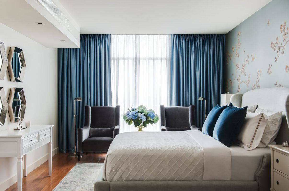 room with these bedroom curtain ideas