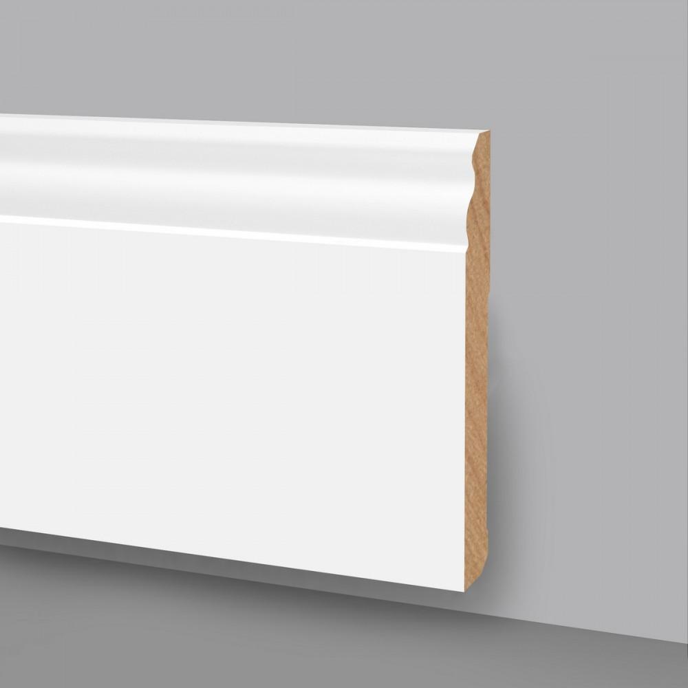 Battiscopa legno laccato bianco 6738LB