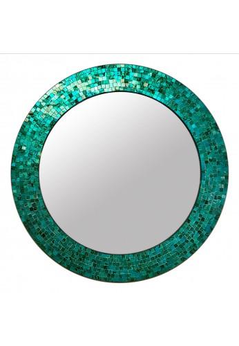 buy 24 turquoise handmade decorative glass mosaic wall mirror online decorshore