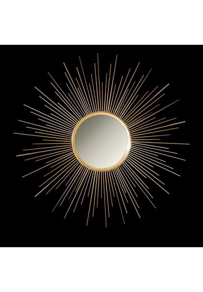 Buy 36 Gold Sunburst Circular Metal Wall Mirror Online