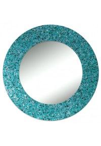 "Buy 24"" Turquoise Handmade Decorative Glass Mosaic Wall ..."
