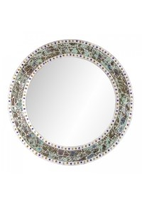 DecorShore 24 x 24 Round Wall Mirror with Multi Color ...