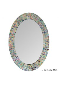 Bohemian Rainbow Rhapsody Wall Mirror