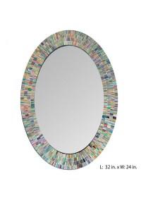 Bohemian Rainbow Rhapsody Wall Mirror -Glass Mosaic ...