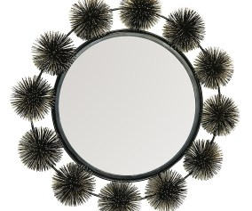 Decorshore Hadal Wall Mirror Sea Urchin Decorative Sculpture Mirror Metal Wire Wall Art Accents Artisan Handcrafted Wall Mirrors Decorshore