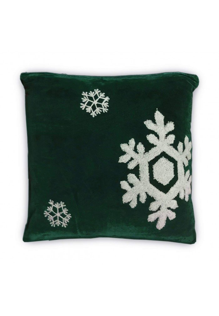 Shop Best Collection of Dancing Snowflakes 18 Green Throw