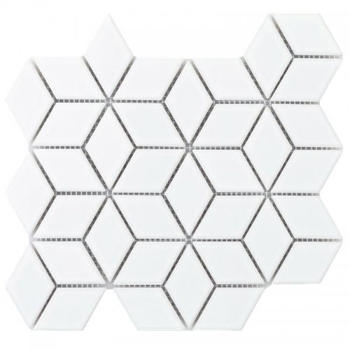white diamond mosaic tile porcelain backsplash cpt17