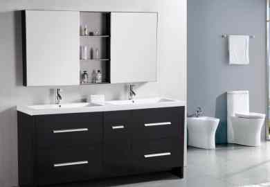Design Element Perfecta Double Integrated White Acrylic