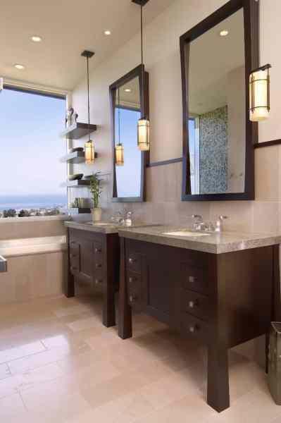 master bathroom vanity lighting ideas WOW! 200+ Stylish Modern Bathroom Ideas! [Remodel & Decor Pictures]