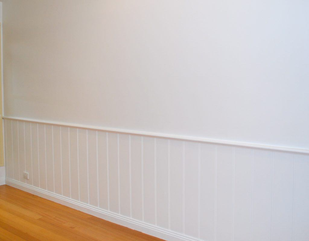 Painted Half Wall Paneling