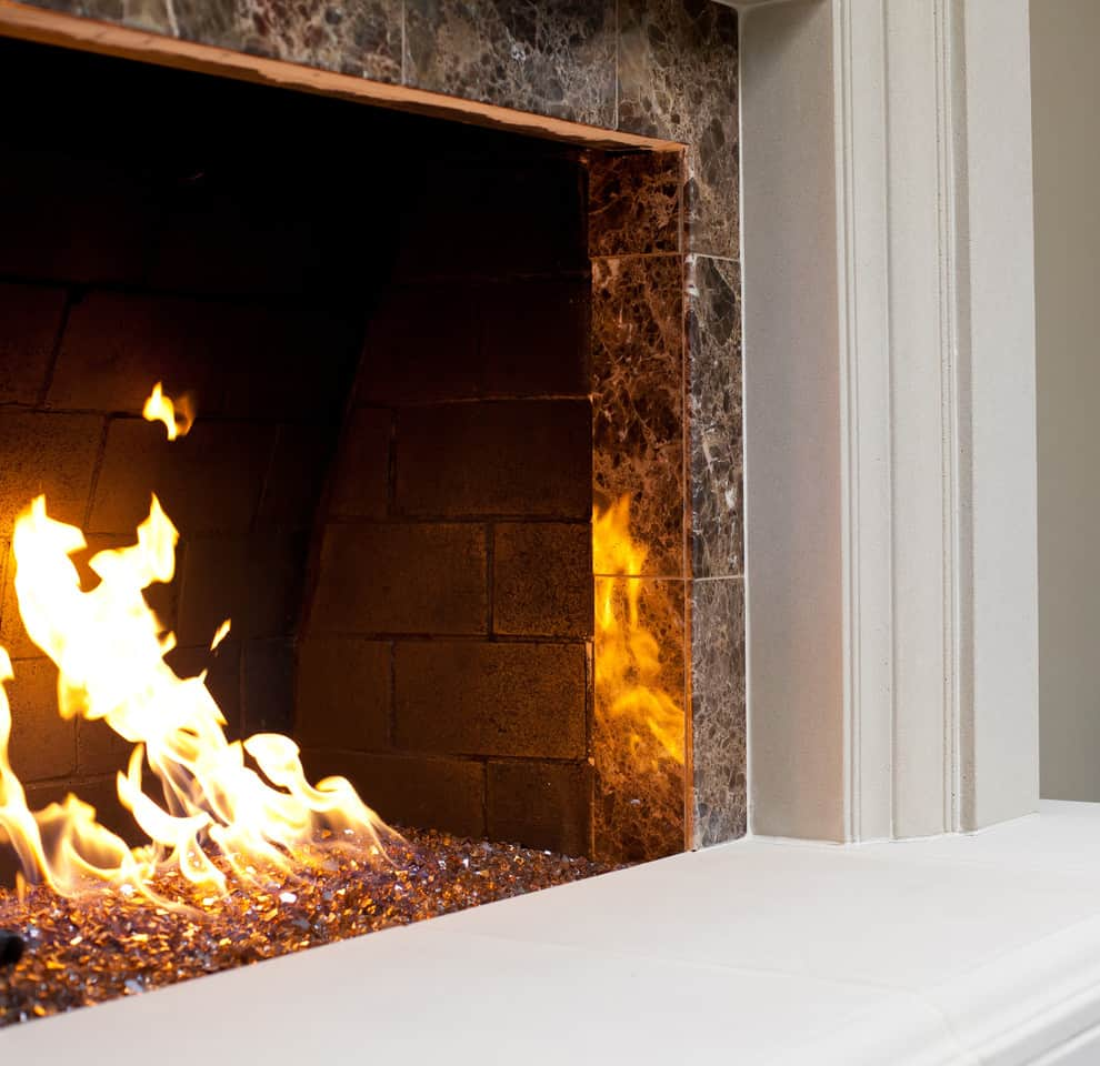 25 Fireplace Decorating Ideas with Gas Logs, Electric Logs