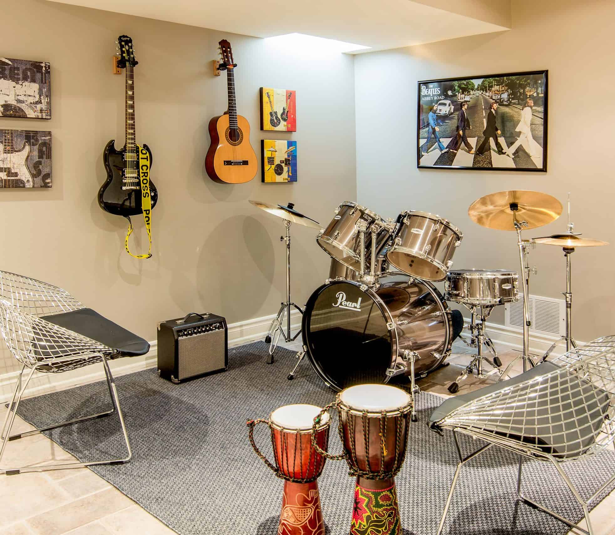 Decorating A Music Room  wall painting ideas for music