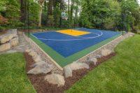 Backyard Basketball Court Ideas - Stencils, Layouts ...