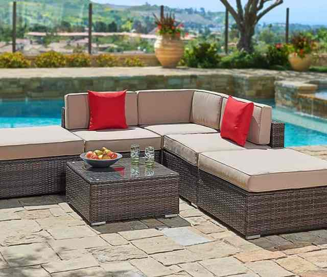 Suncrown Outdoor Furniture Sectional Sofa Set