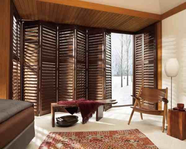 Plantation Shutters for Sliding Glass Doors Window Treatment
