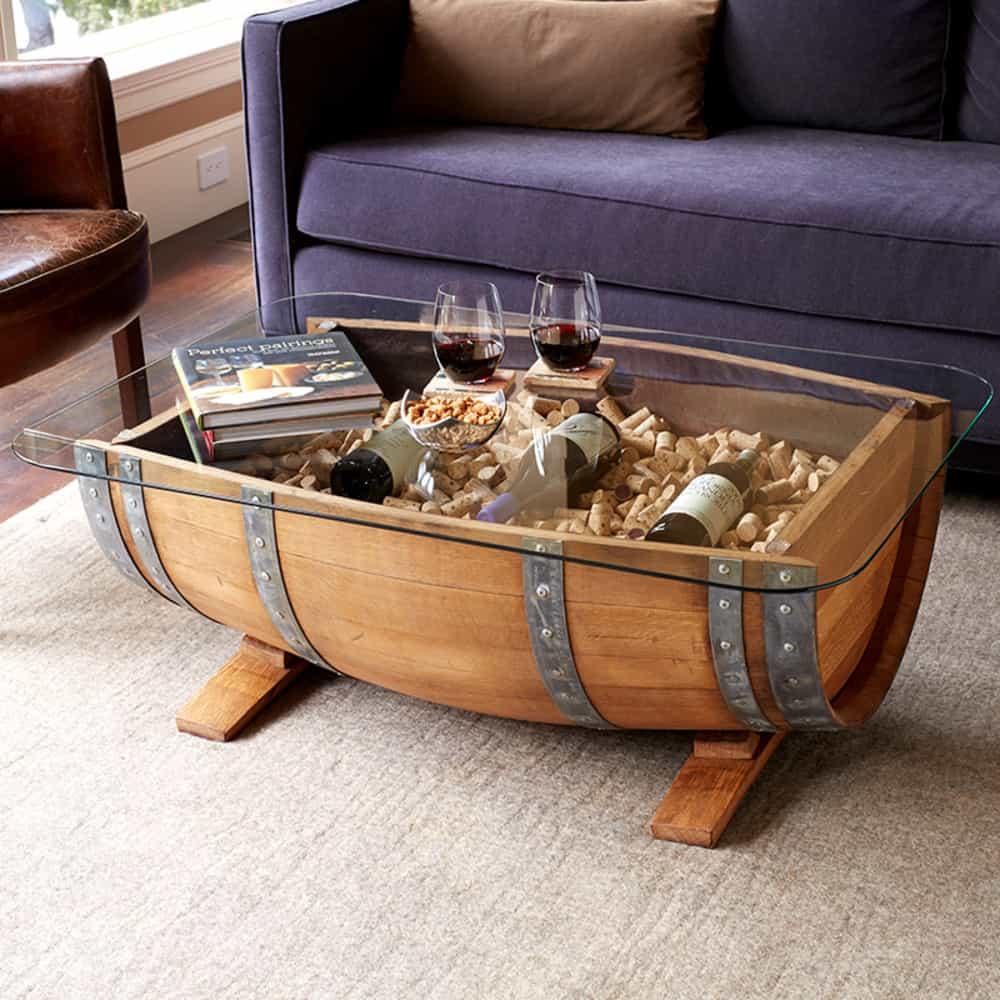 135 Wine Barrel Furniture Ideas You Can DIY or BUY [PHOTOS!]